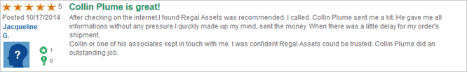 regal assets trustlink customer review 1