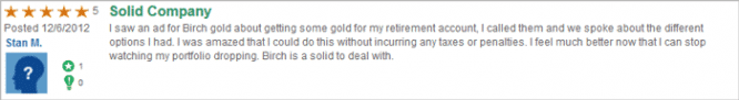 birch gold trustlink customer review 3