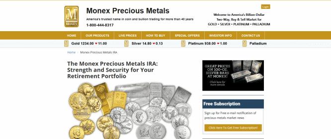 monex precious metals review