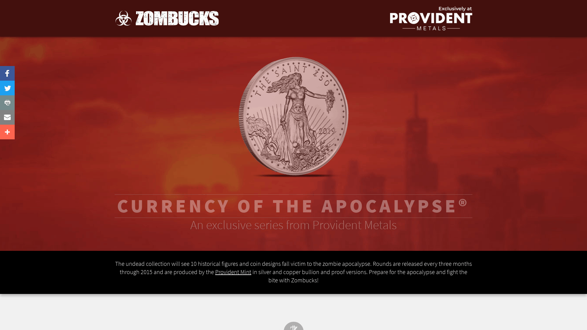 provident metals zombucks